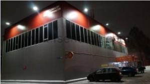 Led прожекторы нового поколения от НПО АЭК прошли проверку качества на фасадах сети Дикси