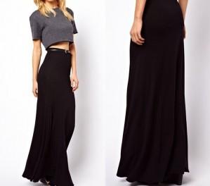 С чем носить длинную черную юбку: базовые советы