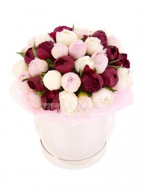 Роскошные букеты пионов с доставкой от службы Flower-shop ru
