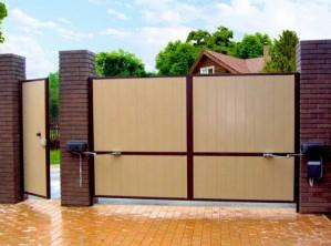 Распашные ворота от «Левин-Групп» – просто и надёжно!