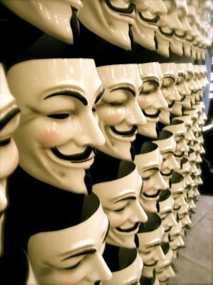 Маска анонимус как символ борьбы с несправедливостью