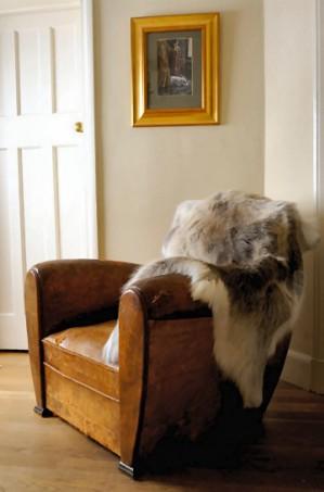 Шкура оленя в интерьере дома