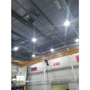 ООО «ЛЕДКОМ» провело работы по освещению производственного цеха компании ABB